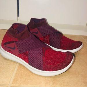 Nike criss cross velcro sneakers, red, Sz 9